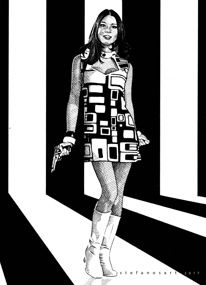 Diana Rigg by Stefanosart